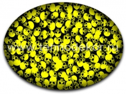 Вид пленки на желтом базовом фоне
