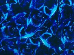 Мистик синий - ширина 100см